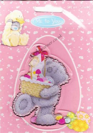 Me To You Easter Chocolate Basket Bear Clear Rubber Stamp